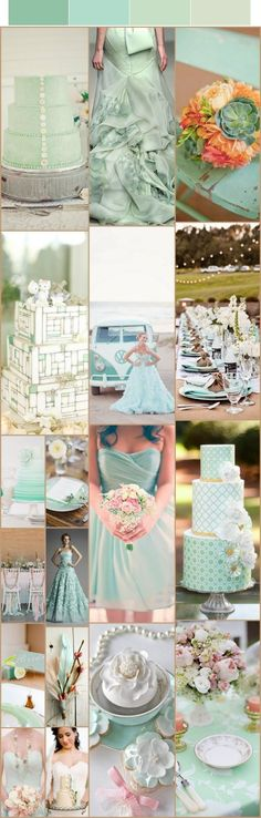 My favourite colour, pastel green :) I hope one of my brides does this colour SOON!!
