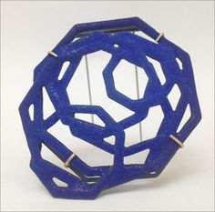 Scarlett Cohen French - 'Blue chaos brooch' Enamel, steel