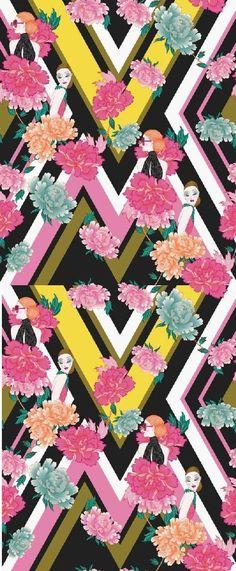 Kaleidoscope Bloom Panel wallpaper by Paper Moon