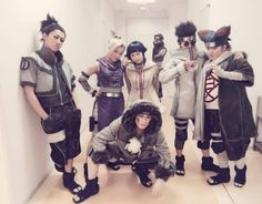 Actually not really cosplay. These are a few of the cast members of the live action musical of Naruto.