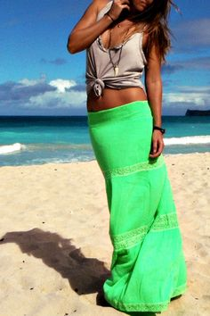Gorgeous Neon Green Skirt <3