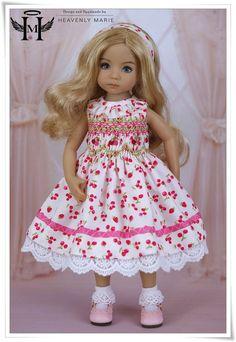 "Smocked Dress Ensemble   13"" Little Darling Effner Clothes by Heavenly Marie #HeavenlyMarie"