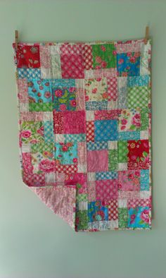 Hidden 9 patch baby quilt for jackie | perrywinkle press.