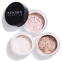 Sick of wishy washy eye shadows that fade?  You'll be amazed by the unrivalled depth, strength, and staying power of Adorn's richly pigmented, pure mineral eye shadows, suitable for even the most sensitive of eyes.