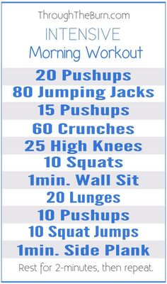 Intensive Morning Workout to kick-start your morning and get your heart pumping blood! loose weight lazy