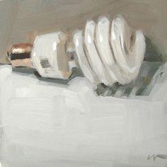 "Carol Marine :: ""Lightbulb""  - 6x6in. - oil on canvas"