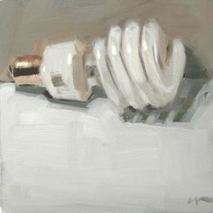 "Carol Marine :: ""Lightbulb""  - 6x6in. - oil on canvas"