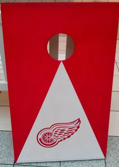 Detroit Redwings hockey cornhole boards with by Chrisandcarabear, $99.99
