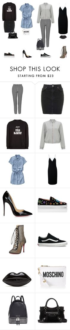 """inspo#46"" by explorer-14153712682 on Polyvore featuring Topshop, adidas, Miss Selfridge, Gap, Alexander Wang, Christian Louboutin, Vans, Moschino, Michael Kors and Balenciaga"