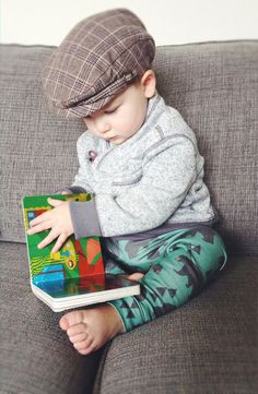 Organic Modern Gender Neutral Baby Boy Toddler Green Geometric Woodland Bear Leggings on Etsy, $24.00