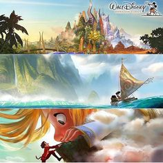 A look at the next three films from #waltdisneyanimationstudios as announced at the #D23expo. #Zootopia #moana and #gigantic! I worked on Zootopia and moana and I hope have a chance to help on gigantic.