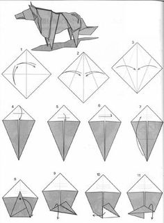 Como hacer papiroflexia de animales, flores y otros ( origami of animals, flowers and others) Origami Yoda, Tutorial Origami 3d, Instruções Origami, Origami Paper Folding, Origami Dragon, Useful Origami, Origami Stars, Dollar Origami, Origami Bookmark