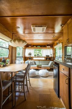 Shasta Camper Airstream Remodel For Full Time Living Travel Trailers Interior Ideas For Full Time Rv Living 3 Rv Rv Interior Remodel, Trailer Interior, Camper Renovation, Motorhome Interior, Airstream Remodel, Airstream Living, Bus Living, Tiny House Living, Living Room