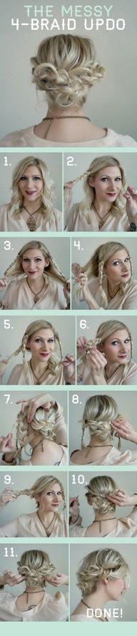 Cute 4 braid hairstyle. - Gotta try this!