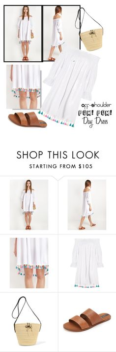 """""""Pom Pom White Shoulder"""" by the-real-ashby-occur ❤ liked on Polyvore featuring Sensi Studio and Matt Bernson"""