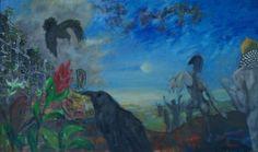 Kraaienparadijs, vijfluik Hoop, middenpaneel olieverf op paneel, 100 x 60