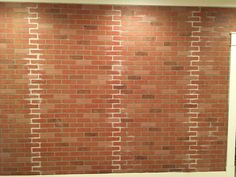 How to Build a Faux Brick Wall - Walls Faux Brick Wall Panels, Fake Brick Wall, Brick Wall Paneling, Faux Walls, Brick Walls, Faux Murs, Bedroom Design On A Budget, Ikea Kitchen Remodel, Brick Interior