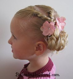 Toddler Combo Hairdo (1) I just did this in my little girls hair and it is ADORABLE!!! It was easier than I thought. School day hairstyle for sure :o)