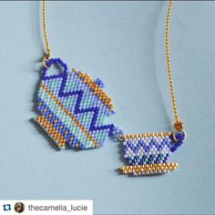 Un petit thé mesdames ? ✌@thecamelia_lucie #cute #thé #diy #bijoux #miyuki #perles #perlesandco #collier #handmade