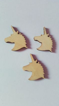 10 x Mini Blank Wooden Craft Shapes - 30mm - Unicorn Head