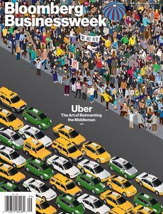 ilovedust's Uber Illustration Covers Bloomberg Businessweek
