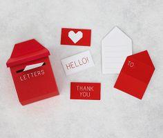 When I was little I loved making mini envelopes and sending mini letters.