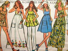 Vintage McCall's 3559 Sewing Pattern, 1970s Dress Pattern, Empire Waist, Bust…