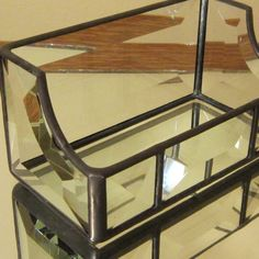 Business card holder stained glass/beveled by EdieMartinGlass, $32.00