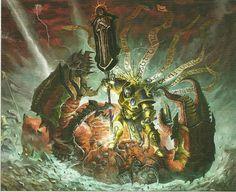 Age of Sigmar artwork Fantasy Sword, Fantasy Battle, Dark Fantasy Art, Fantasy Artwork, Warhammer 40k Art, Warhammer Fantasy, Stormcast Eternals, Age Of Sigmar, Lord