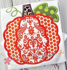 Scallop Pumpkin Applique - 4 Sizes! | What's New | Machine Embroidery Designs | SWAKembroidery.com Creative Appliques