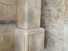 Pilar de mortero combinación de piedra artificial