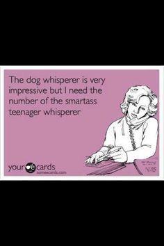 Ahhhh... Teenagers!