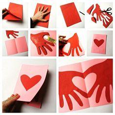 Kids Crafts thanksgiving diy crafts for kids Mothers Day Crafts For Kids, Valentine's Day Crafts For Kids, Valentine Crafts For Kids, Valentines Diy, Holiday Crafts, Diy And Crafts, Paper Crafts, Kids Diy, Dit Mothers Day Gifts