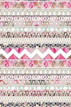 iPhone 5 Wallpaper - Floral Aztec Pattern