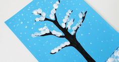 This simple winter tree finger painting activity is great for kids of all ages!