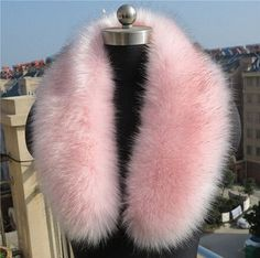 SexeMara High Quality Winter Coat Fur Collar Fluffy Warm Faux Fur Scarf Faux Fox and Raccoon Fur Shawl Hat Decor Scarves AW59