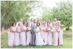 bridesmaids and groomsmen on a wedding day