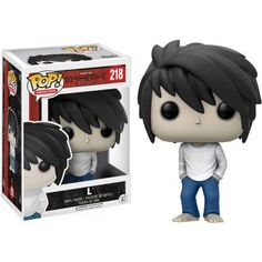 Funko Pop Anime Death Note L From Death Note, L, as a stylized POP vinyl from Funko! Stylized collectable stands 3 ¾ inches tall, perfect for any Death Note fan! Collect and display all Death Note POP! Death Note L, Death Note Funny, Figurines D'action, Figurine One Piece, Pop Figurine, Pop Vinyl Figures, Anime Pop Figures, Funko Pop Anime, Funk Pop