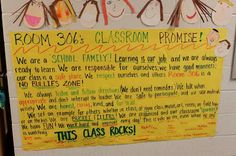 Blog Hoppin': Our Classroom Promise: Building a Community of Learners