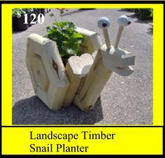 Landscape Timber Snail Planter