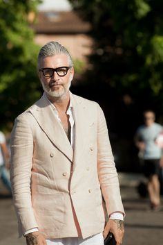 Domenico Gianfrate, Double Breasted Linen Jacket, Men's Spring Summer Fashion, Pitti Uomo.