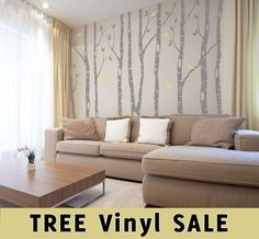 Hey, I found this really awesome Etsy listing at http://www.etsy.com/listing/167408636/6-river-birch-trees-wall-decal-forest