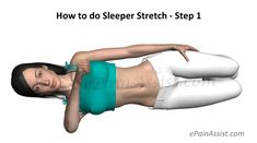 Sleeper Stretch is a shoulder stretch exercise that is done to increase shoulder range of motion and flexibility. Know the benefits, dangers and how to do sleeper stretches. Stiff Shoulder, Shoulder Joint, Shoulder Range Of Motion, Tight Shoulders, Wrist Pain, Frozen Shoulder, Neck Stretches, Improve Flexibility, Body Weight