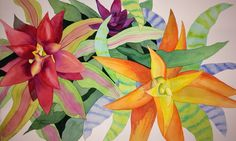 Bromeliad 14 x 22 by Rebecca Brown