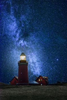 Magical Night at Bovbjerg Fyr  by hannes cmarits on 500px