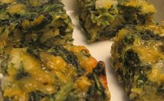 Spinach & Cheese Squares These are sooooooo good and freeze well