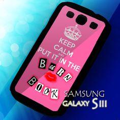 Burn Book Hard Case For Samsung Galaxy S3 i9300, Samsung Galaxy S2, or iPhone Case