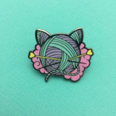 Kitten Wool Ball Enamel Pin