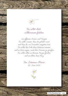 Ganz persönliche Geschenkidee zur Geburt und Taufe: Druck/Wandbild/Print: Segenswunsch für Kinder