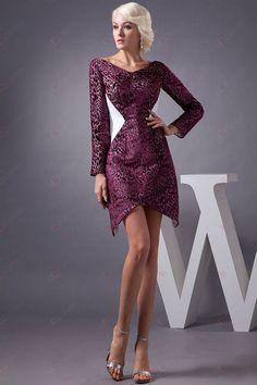 Spalte V-Ausschnitt Full Sleeve Mini Länge Neues Design Homecoming Kleider156,28 €   89,30 €